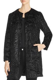 Unreal Fur Black Panther Faux Fur Coat