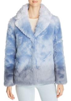 Unreal Fur Icebreaker Ombr� Short Faux Fur Coat
