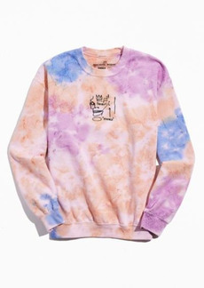 Urban Outfitters Exclusives Basquiat Evil Thoughts Tie-Dye Crew Neck Sweatshirt
