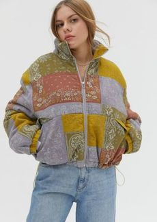 Urban Outfitters Exclusives BDG Ash Printed Linen Puffer Jacket