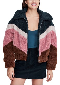 Urban Outfitters Exclusives BDG Urban Outfitters Chevron Teddy Coat