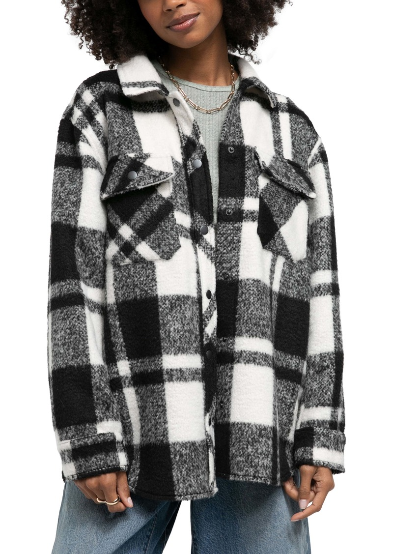 BDG Urban Outfitters Leah Plaid Shirt Jacket