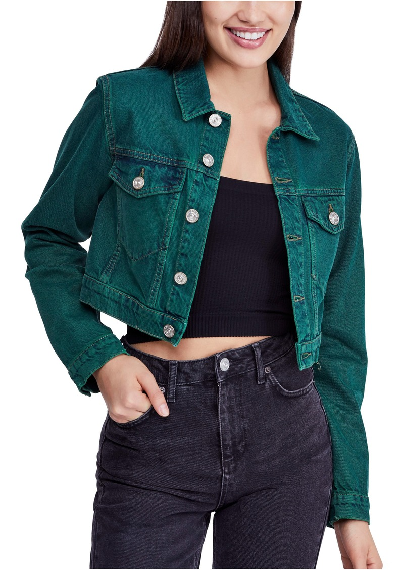 6457fab4e544 Urban Outfitters Exclusives BDG Urban Outfitters Overdyed Crop Denim Jacket