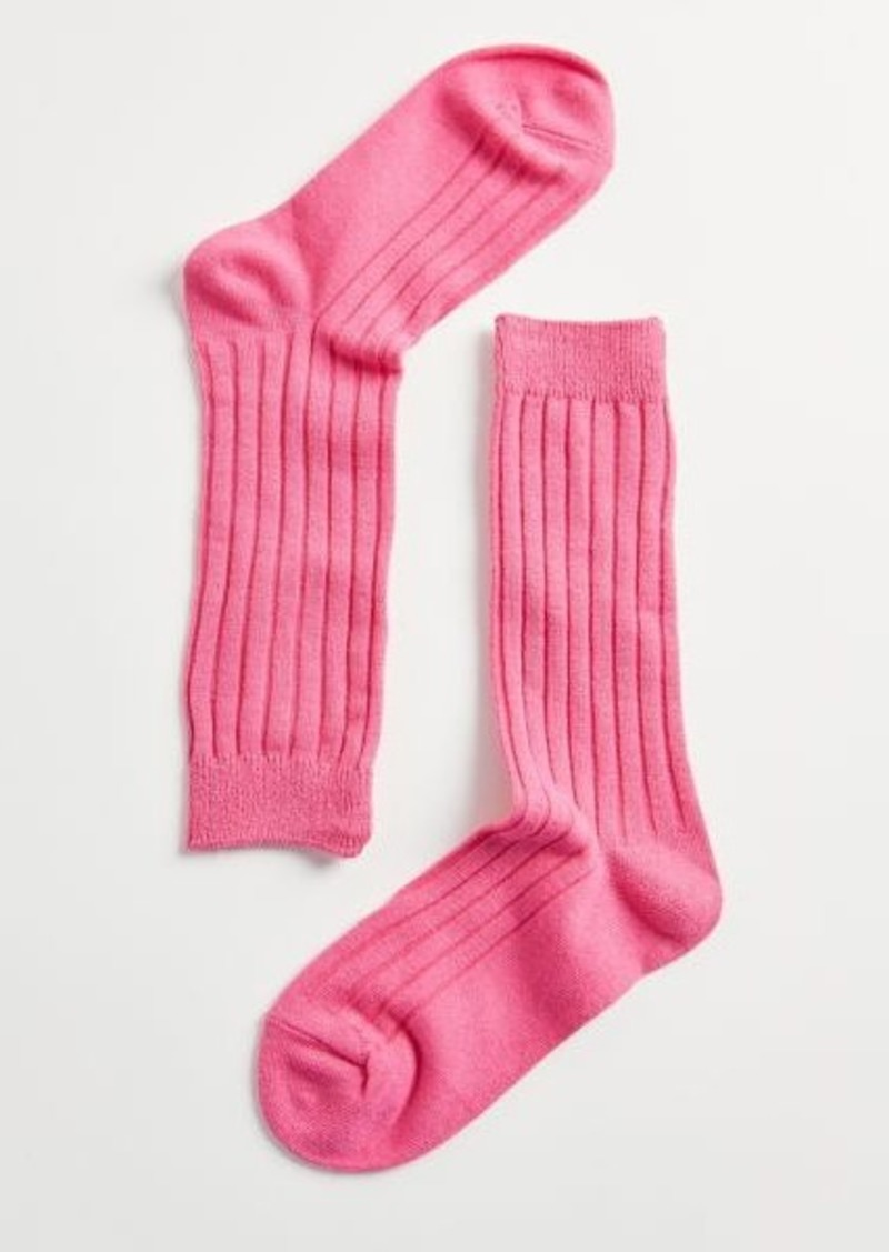 Essential Ribbed Crew Sock