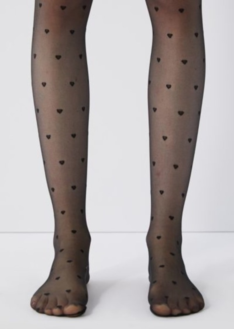 Urban Outfitters Exclusives Heart Sheer Tight