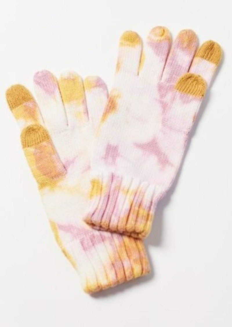 Tie-Dye Flat Knit Tech Glove