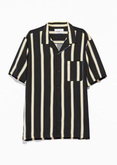 Urban Outfitters Exclusives UO '50s Stripe Rayon Short Sleeve Button-Down Shirt