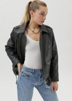 Urban Outfitters Exclusives UO Bella Leather Moto Jacket
