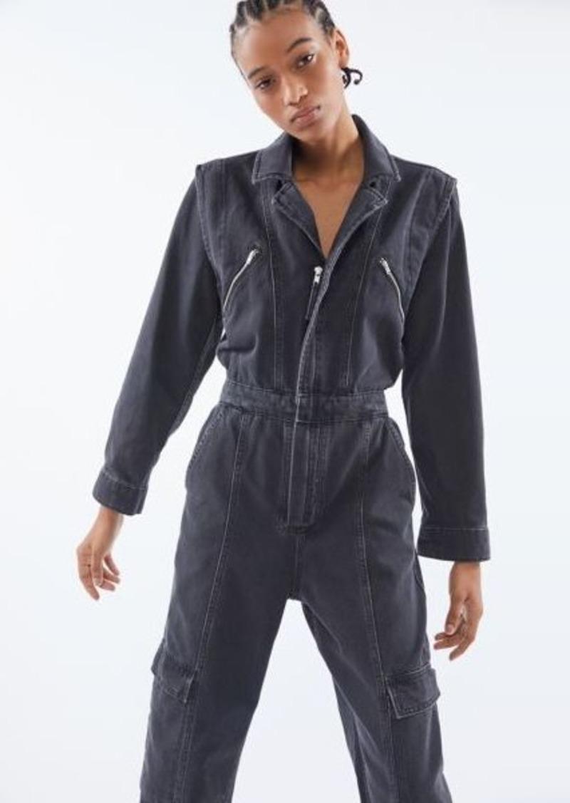 UO Bella Zip-Front Coverall Jumpsuit