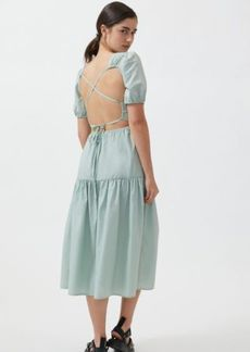 Urban Outfitters Exclusives UO Sydney Tiered Strappy Back Midi Dress