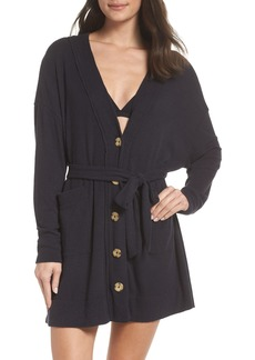 Urban Outfitters Exclusives Urban Outfitters Sleepy Ribbed Short Robe