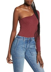 Urban Outfitters Exclusives Urban Outfittters One-Shoulder Long Sleeve Thong Bodysuit