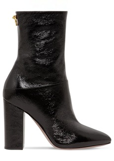 Valentino 100mm Ringstud Naplack Ankle Boots