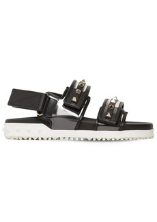 Valentino 20mm Rockstud Rubber Leather Sandals
