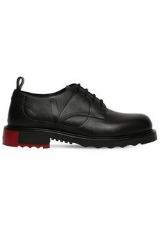 Valentino 30mm Leather V-logo Derby Shoes