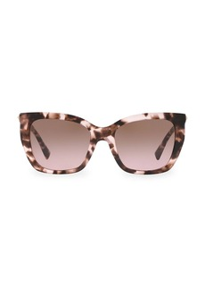 Valentino 53MM Rockstud Square Cat Eye Sunglasses