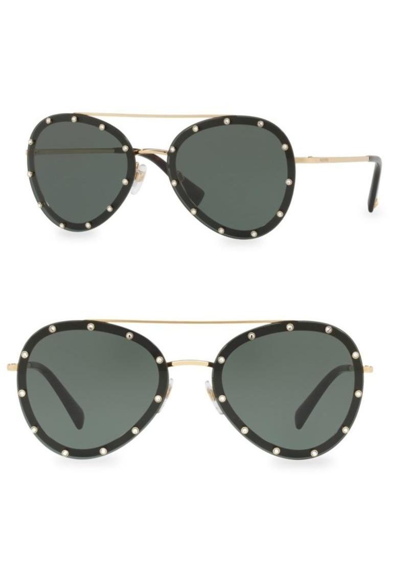 6bb403ecd00dc Valentino 58MM Studded Aviator Sunglasses