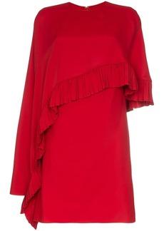 Valentino asymmetric cape mini dress