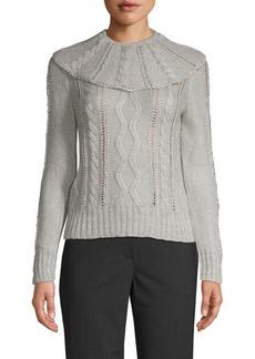 Valentino Aurora Cableknit Sweater