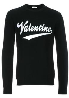 Valentino baseball logo intarsia sweater