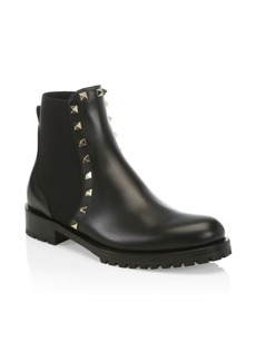 Valentino Beatle Rockstud Leather Ankle Boots