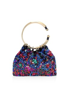 Valentino Bebop Loop Sequin Clutch