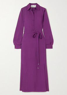 Valentino Belted Crepe Maxi Dress