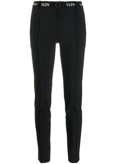 Valentino belted VLTN skinny trousers