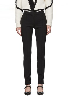 Valentino Black Elastic Wool Trousers