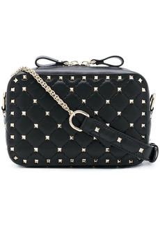 Valentino black Rockstud stud embellished leather cross-body bag