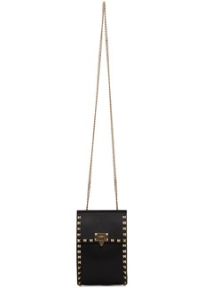 Black Valentino Garavani Rockstud Small Chain Pouch Bag