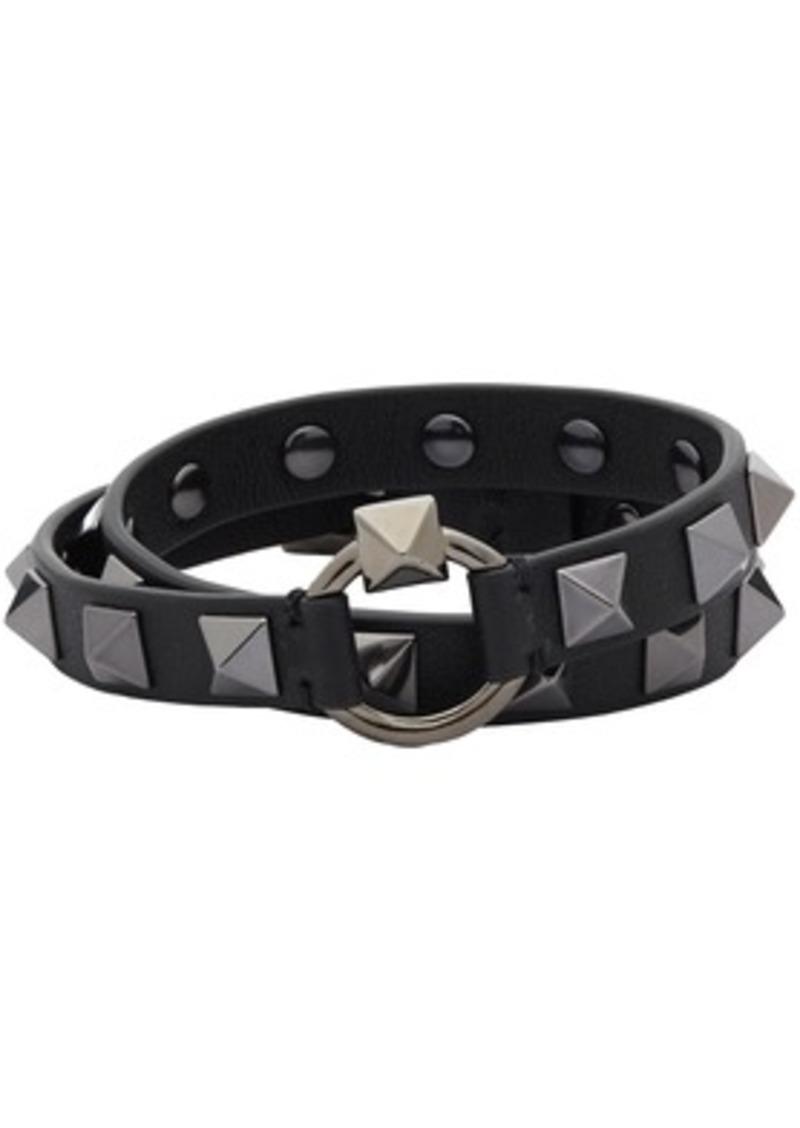 Black Valentino Garavani Rockstud Wrap Bracelet