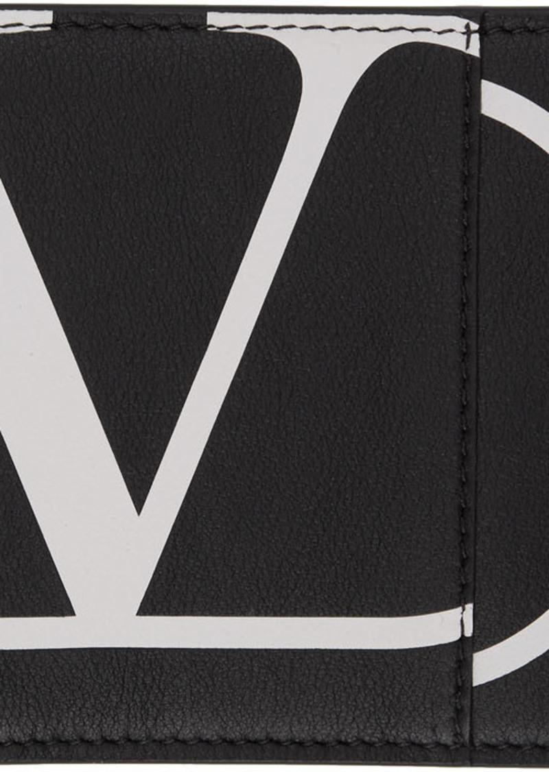 Black Valentino Garavani VLogo Wallet