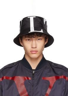 Black Valentino Garavani 'VLTN' Bucket Hat