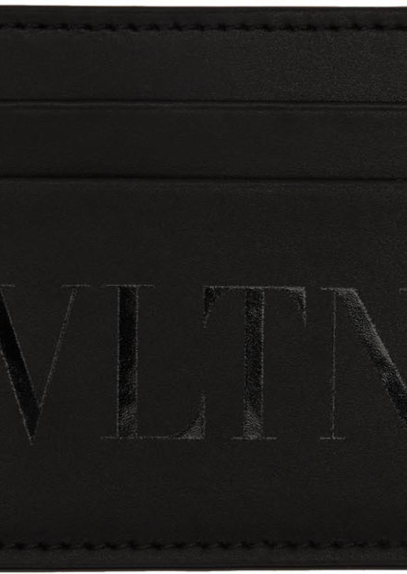 Black Valentino Garavani 'VLTN' Card Holder