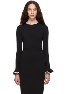 Valentino Black Viscose Sweater