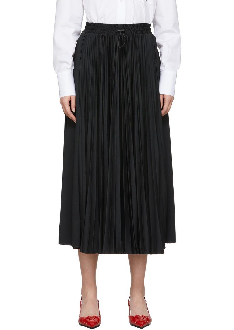 Valentino Black VLTN Star Skirt