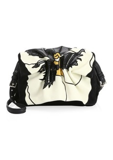 Valentino Bloomy Colorblock Leather Shoulder Bag