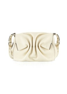 Valentino Bloomy Gathered Leather Shoulder Bag