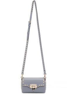 Blue Valentino Garavani Mini Rockstud Cross Body Bag