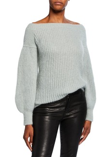 Valentino Boat-Neck Wool-Blend Sweater