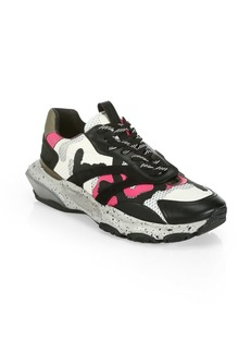 Valentino Garavani Bounce Camouflage Low-Top Sneakers