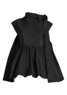 Valentino Bow Detail Peplum Top