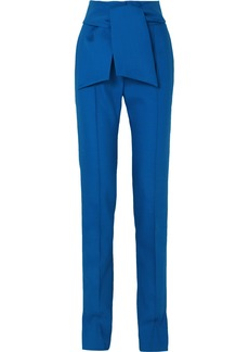 Valentino Bow-embellished Wool-blend Slim-leg Pants