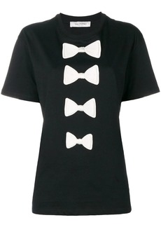 Valentino bow embroidered T-shirt