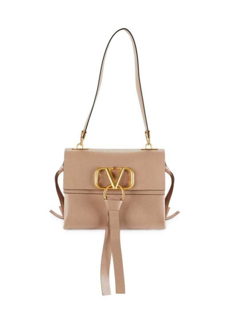 Valentino Boxed Leather Shoulder Bag