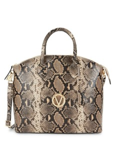 Valentino by Mario Valentino Bravia Snakeskin-Embossed Leather Dome Tote