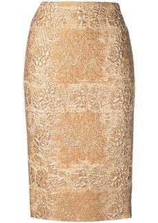 Valentino brocade pencil skirt