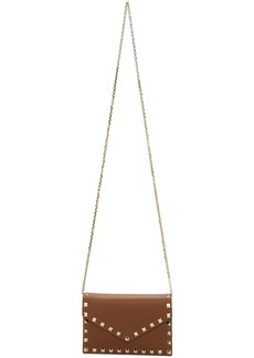 Brown Valentino Garavani Rockstud Chain Bag