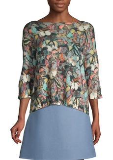 Valentino Butterfly Print Cashmere Sweater